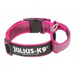 """Coleira com pega JULIUS-K9 """"Color & Gray"""" (Rosa) 38-53cm"""