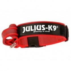 """Coleira com pega JULIUS-K9 """"Color & Gray"""" (vermelho) 47-67cm"""