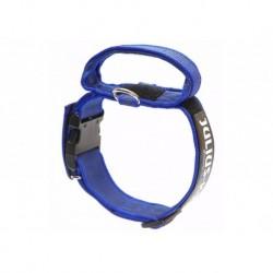 """Coleira com pega JULIUS-K9 """"Color & Gray"""" (azul) 38-53cm"""