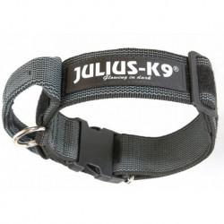 """Coleira com pega JULIUS-K9 """"Color & Gray"""" (preto) 47-67cm"""