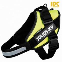 """Peitoral """"Julius-K9 IDC"""" (amarelo neon) (Mini-Mini/S) 40-53 cm"""
