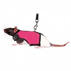 Peitoral com trela elastica para Ratos e Hamsters 12-18cm (cores sortidas)