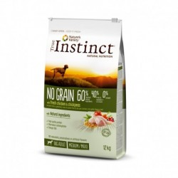 Instinct Dog No Grain Medium Maxi Adult Chicken 12Kg