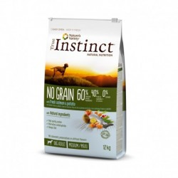 Instinct Dog No Grain Medium Maxi Adult Salmon 12Kg